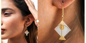 Flying Kites ♦ Moonstone . Kite Earrings ♦ 19