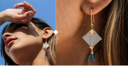 Flying Kites ♦ Moonstone . Kite Earrings ♦ 1