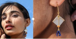 Flying Kites ♦ Moonstone . Kite Earrings ♦ 3