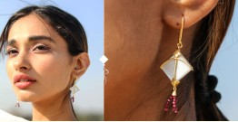 Flying Kites ♦ Moonstone . Kite Earrings ♦ 4