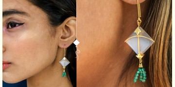 Flying Kites ♦ Moonstone . Kite Earrings ♦ 6