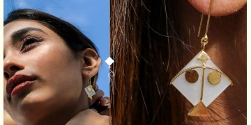 Flying Kites ♦ Moonstone . Kite Earrings ♦ 20