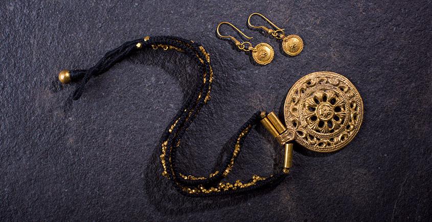 प्रीतम ✤ Brass Jewellery ✤ Necklace with Earring { 34 }
