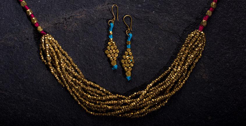 प्रीतम ✤ Brass Jewellery ✤ Necklace with Earring { 39 }