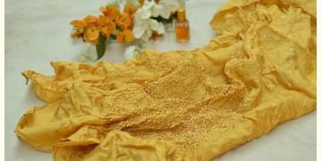 Twinkle Drops ♦ Habotai Silk . Natural Color Bandhani Stole ♦ 13