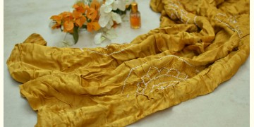 Twinkle Drops ♦ Gajji Silk . Natural Color Bandhani Stole ♦ 15