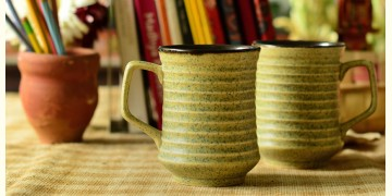 Khurja pottery ~ coffee mug ~ 2 ( Single Piece )