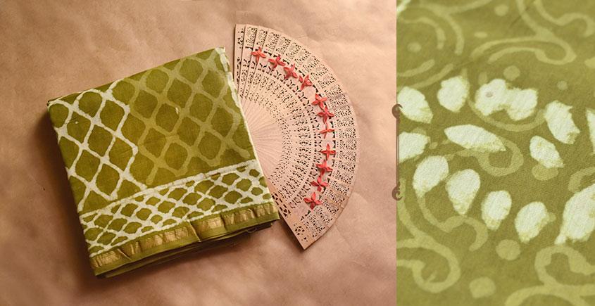 Chandni ✲ Handwoven Chanderi . Batik Saree ✲ 18