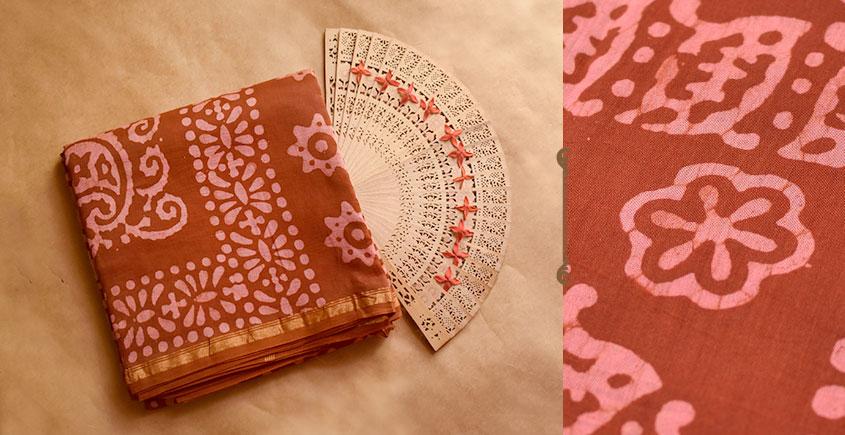 Chandni ✲ Handwoven Chanderi . Batik Saree ✲ 17
