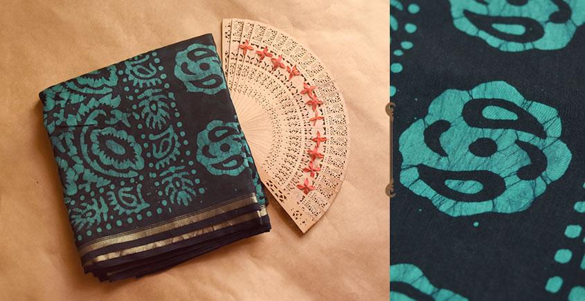 Chandni ✲ Handwoven Chanderi . Batik Saree ✲ 22