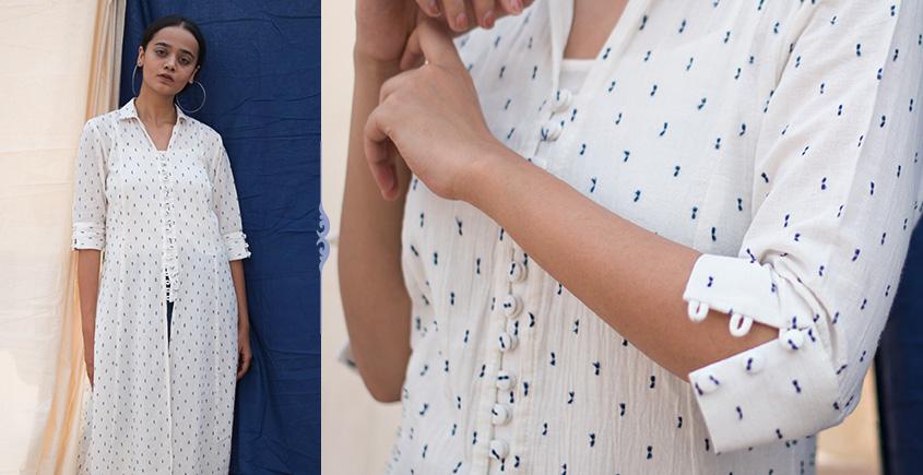 Iris ❊ A Line Cotton Dobby Tunic With Pockets ❊ 3