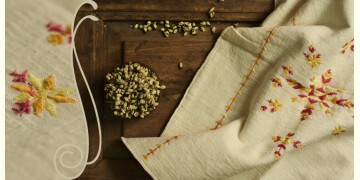सूफियाना ~ Handloom Cotton . Embroidered stoles { 1 }