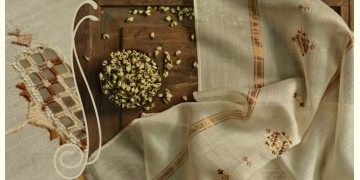सूफियाना ~ Chanderi . Embroidered stoles { 4 }