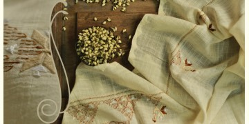 सूफियाना ~ Handloom Cotton . Embroidered dupatta { 11 }