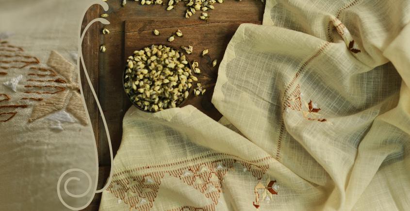 सूफियाना ~ Handloom Cotton . Embroidered dupatta { 11 }