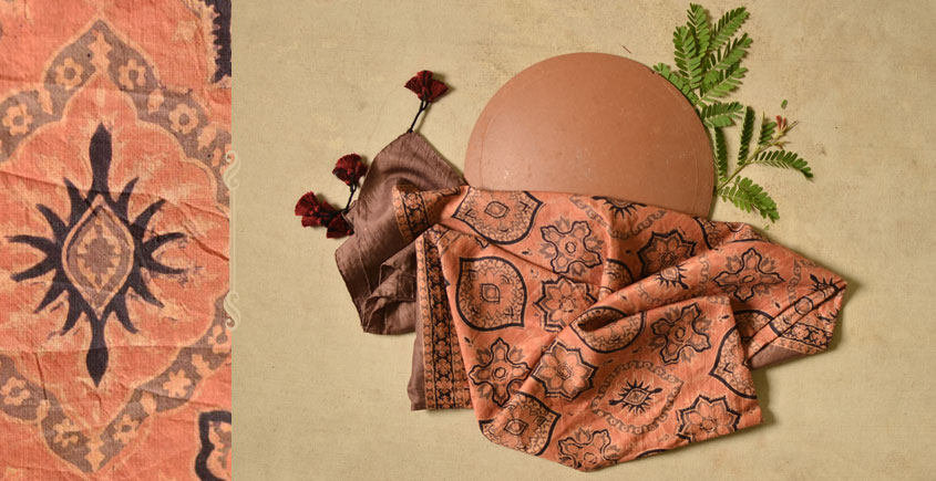 Ripened by the Tropical Sun ❋ Mulberry Silk Ajrakh Scarf { 14 }