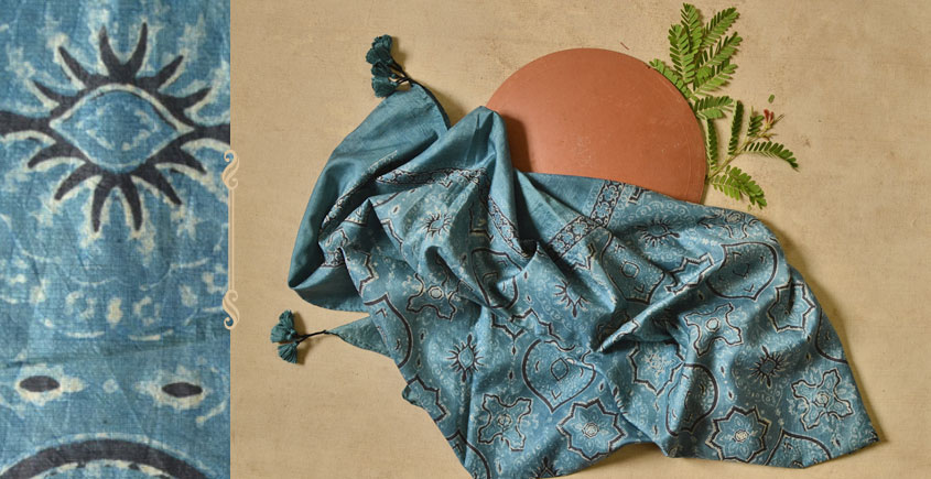 Ripened by the Tropical Sun ❋ Mulberry Silk Ajrakh Scarf { 15 }