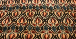 Ajrakh Natural Color Mashru Fabric ~ 11 { Per meter }