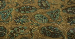 Ajrakh Natural Color Mashru Fabric ~ 12 { Per meter }