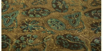 Ajrakh Natural Color Mashru Fabric ~ 12 { Per meter }