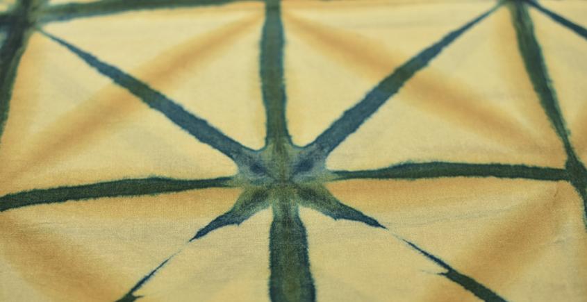Clamp Dye . Natural Color Cotton Silk Fabric ~ 16 { Per meter }