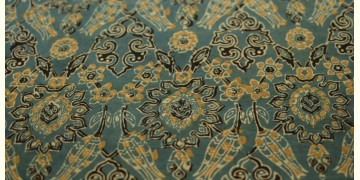 Ajrakh . Natural Color Cotton Fabric ~ 26 { Per meter }