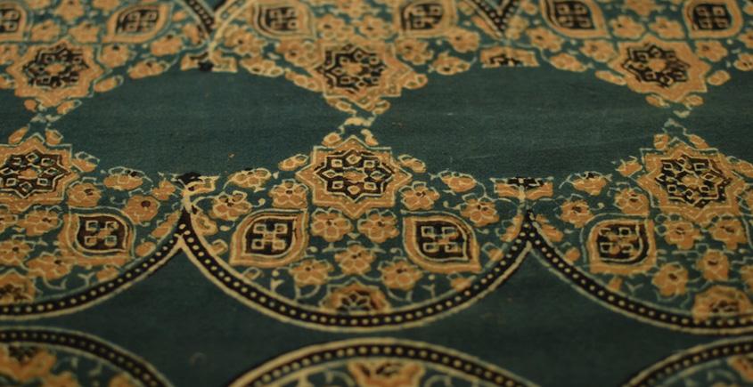 Ajrakh . Natural Color Cotton Fabric ~ 28 { Per meter }
