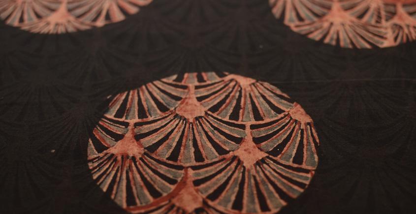 Ajrakh . Natural Color Cotton Fabric ~ 30 { Per meter }