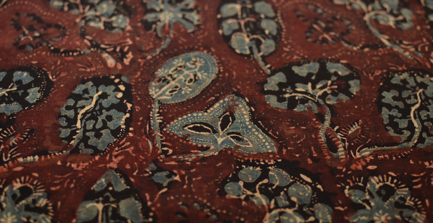 Ajrakh . Natural Color Cotton Fabric ~ 33 { Per meter }