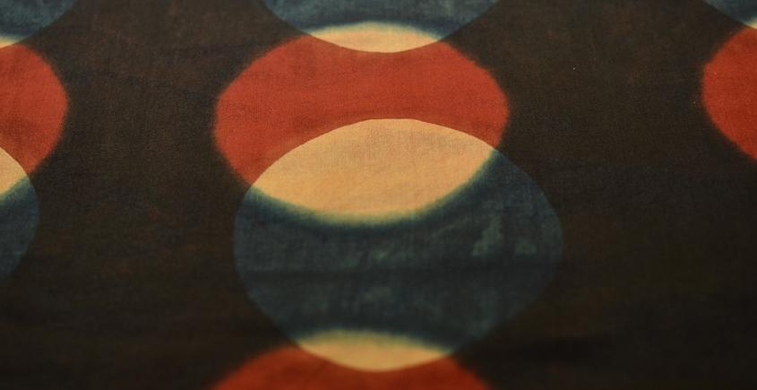 Clamp Dye . Natural Color Cotton Silk Fabric ~ 17 { Per meter }