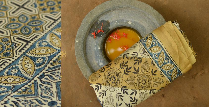 उत्सव  ◈ Gajji Silk . Ajrakh saree ◈ 10