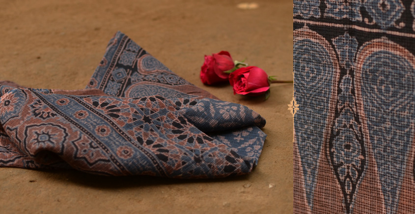 Autumns can wait ❋ Kota Cotton Ajrakh Stole { 1 }