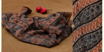 Autumns can wait ❋ Mul Cotton Ajrakh Dupatta { 13 }