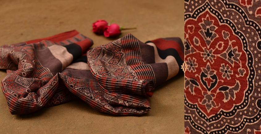 Autumns can wait ❋ Mul Cotton Ajrakh Dupatta { 14 }