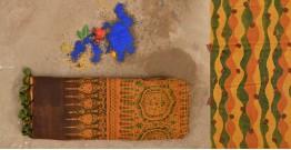 परवा ❋ Gajji Silk . Ajrakh Saree { a }