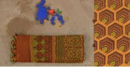 परवा ❋ Gajji Silk . Ajrakh Saree { q }