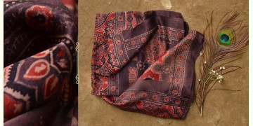 When Skies Bore Blossoms ❆ Gajji silk . Ajrakh dupatta ❆ 16