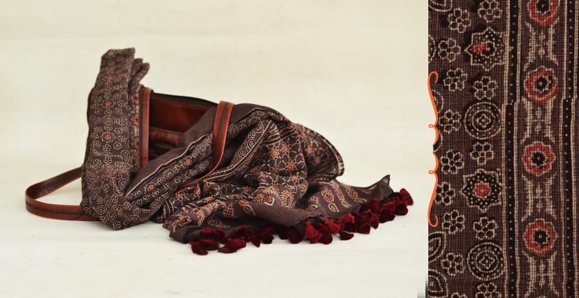 From the Wardrobe ☙ Kota Cotton Ajrakh Dupatta {18}