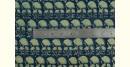 Ajrakh Natural Color Cotton Fabric * M { Per Meter }
