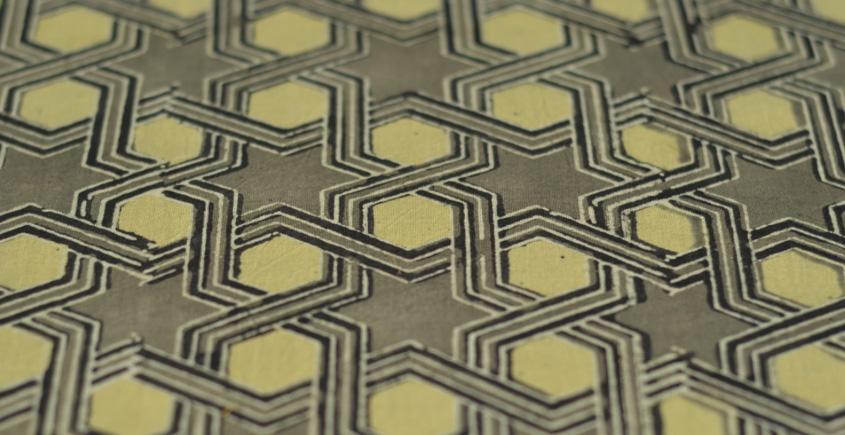 Ajrakh Natural Color Cotton Fabric * O { Per Meter }