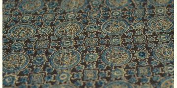Ajrakh Natural Color Cotton Fabric * P { Per Meter }