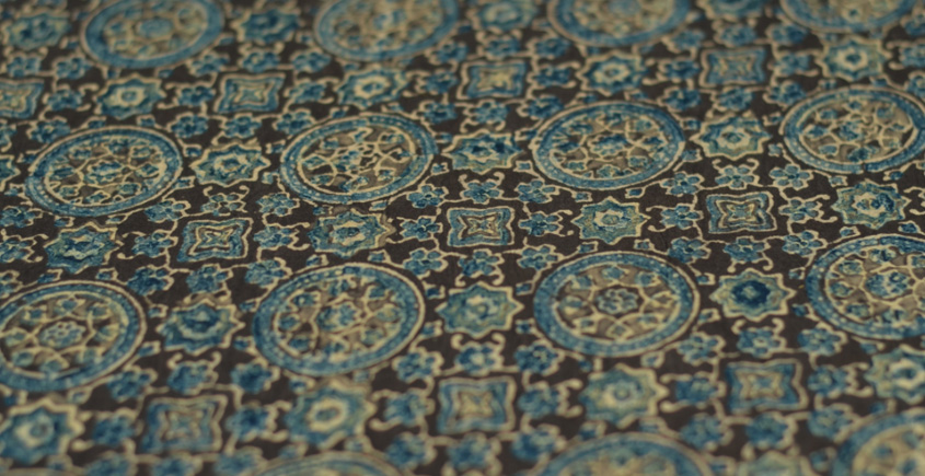 Ajrakh Natural Color Cotton Fabric * P { Per Meter }