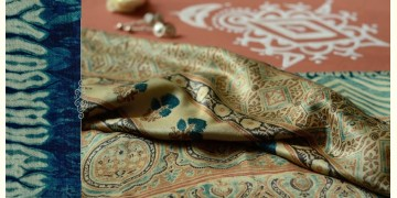 From the terrains of Sindh ( Ajrakh .Gajji silk ) - {2}