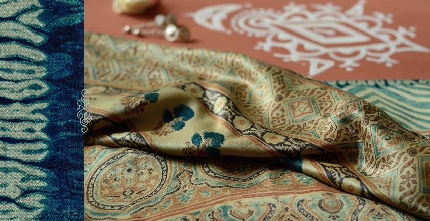 From the terrains of Sindh ( Ajrakh .Gajji silk ) - {2}