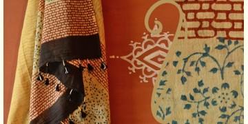 Handful of stars  ( Shibori ~ Ajrakh dupatta ) - {v}