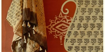 Handful of stars  ( Shibori ~ Ajrakh dupatta) - {y}