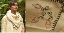Aranya ♣ Kantha Embroidered . hand spun Handloom ♣  Cotton Scarf ♣ 6