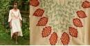 Aranya ♣ Kantha Embroidered . hand spun Handloom ♣ Cotton Dress ♣ 1