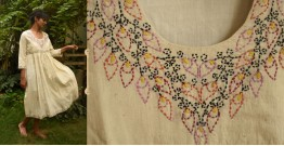Aranya ♣ Kantha Embroidered . hand spun Handloom ♣ Cotton Dress ♣ 7