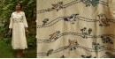 Aranya ♣ Kantha Embroidered . hand spun Handloom ♣ Cotton Dress ♣ 13